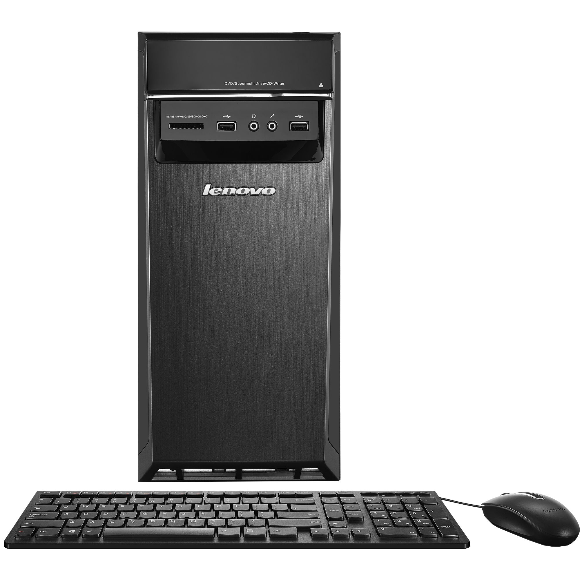Настолен компютър PC Lenovo IdeaCentre 300-20 c процесор Intel® Core™ i3-6100 3.70GHz, Skylake™, 4GB, 1TB, DVD-RW, Intel® HD Graphics, Free DOS, Мишка + Клавиатура, Black